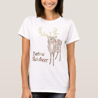 Camiseta T-shirt nativo da rena