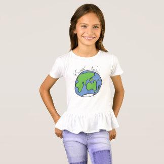 Camiseta T-shirt nativo do plissado das meninas da terra