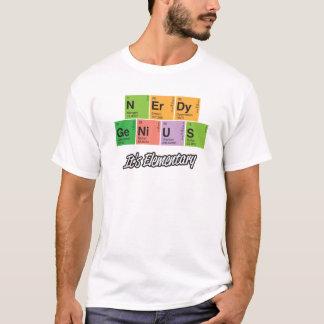 Camiseta T-shirt Nerdy do elemento de mesa periódica do _do