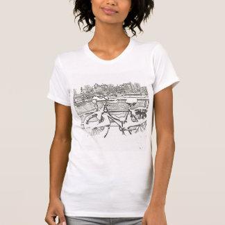 Camiseta T-shirt nevado da bicicleta de Amsterdão