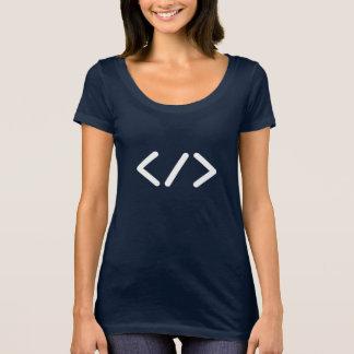 Camiseta T-shirt nivelado seguinte do pescoço do