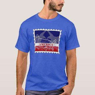 Camiseta T-shirt nomeado EUA do selo da águia americana de