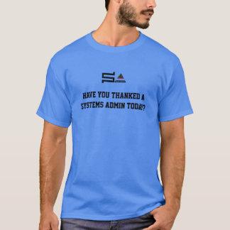 Camiseta T-shirt NOVO do logotipo do sysadmin do computador