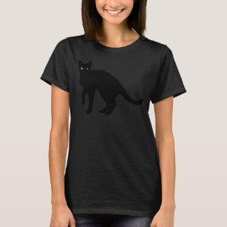 """Camiseta T-shirt o Dia das Bruxas """"sexy"""" do gato preto"""