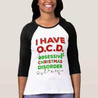 Camiseta T-shirt obsessivos da desordem do Natal de OCD