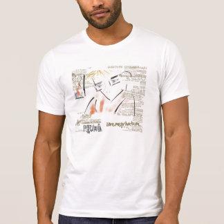 Camiseta T-shirt ocasional customizável dos homens do homem