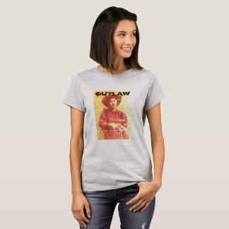 Camiseta T-shirt ocidental selvagem da mulher foragido