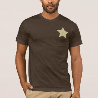 Camiseta T-shirt ocidental selvagem do partido do crachá do