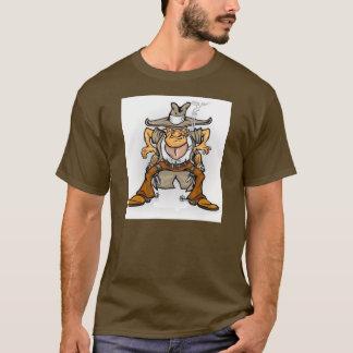 Camiseta t-shirt, ocidental, vaqueiro, bandido