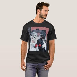 Camiseta T-shirt oculto da bola de mascarada para homens
