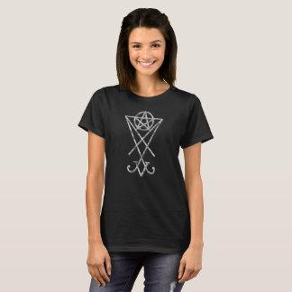 Camiseta T-shirt oculto do gótico do Pentacle de Lucifer