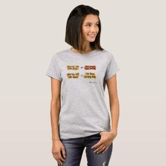 Camiseta T-shirt ocupado do Gry de mulheres de
