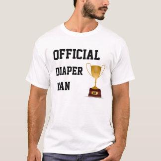 Camiseta T-shirt oficial do novo papai do homem da fralda