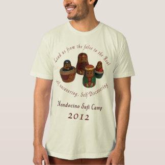 Camiseta T-shirt orgânico do acampamento 2012 de Mendo Sufi