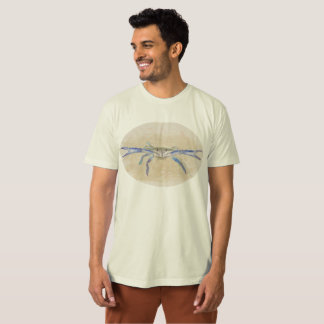 Camiseta T-shirt orgânico do caranguejo resoluto