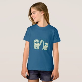 Camiseta T-shirt orgânico do roupa americano das meninas
