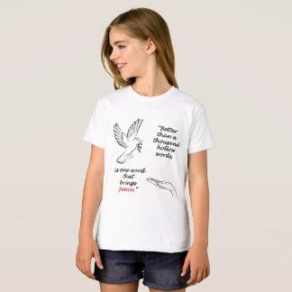 Camiseta T-shirt orgânico do roupa americano das meninas do