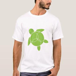Camiseta T-shirt orgânico feliz de Honu (tartaruga de mar)