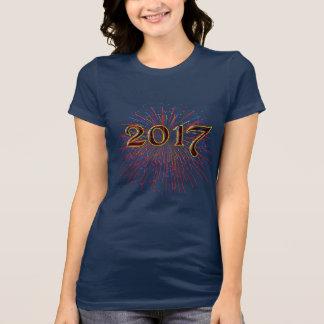 Camiseta T-shirt original de 2017 fogos-de-artifício do