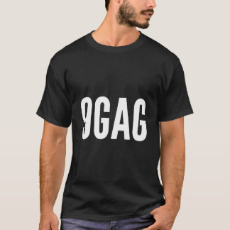 Camiseta T-shirt original do logotipo 9gag - apenas para o
