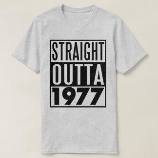 Camiseta T-shirt Outta reto 1977 do aniversário de 40 anos