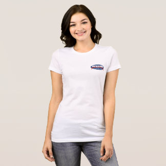 Camiseta T-shirt oval dianteiro das senhoras da área do