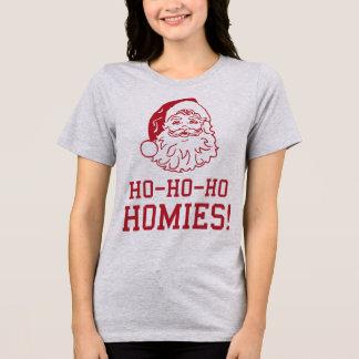 Camiseta T-shirt Papai Noel Ho Ho Ho Homies de Tumblr