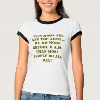 Camiseta T-shirt para a mamã dos gêmeos