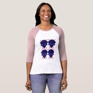 Camiseta T-shirt para a menina com as mandalas azuis