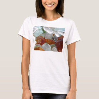 Camiseta T-shirt para ela, com vidro do mar