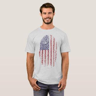 Camiseta T-shirt patriótico da impressão digital da