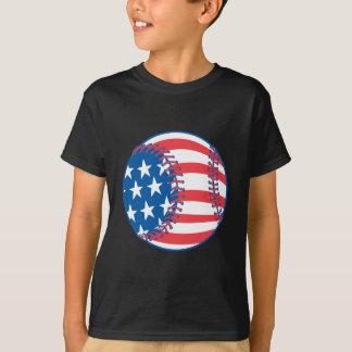 Camiseta T-shirt patriótico do basebol