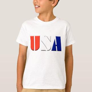 Camiseta T-shirt patriótico dos EUA dos miúdos