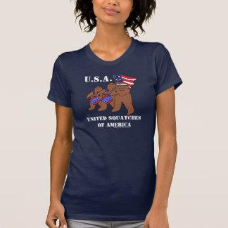Camiseta T-shirt patrióticos de Sasquatch e de Bigfoot