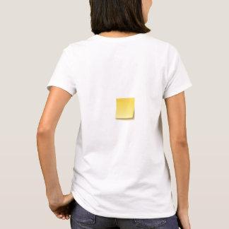 Camiseta T-shirt pegajoso vazio da nota
