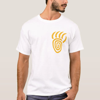 Camiseta T-shirt pequeno amarelo do peito da pata de urso
