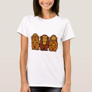 Camiseta T-shirt pequeno de 3 macacos