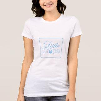 Camiseta T-shirt pequeno do branco das gotas