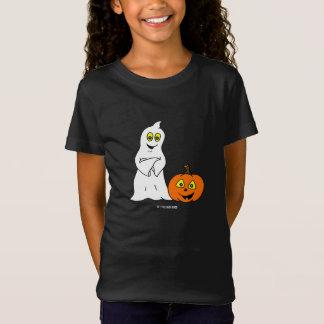 Camiseta T-shirt pequeno do DIA DAS BRUXAS da menina de