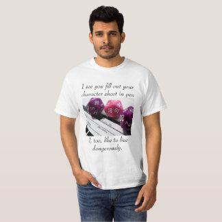 Camiseta T-shirt perigoso dos jogadores