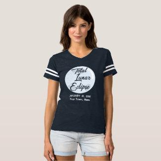 Camiseta T-shirt personalizado da cidade do eclipse lunar