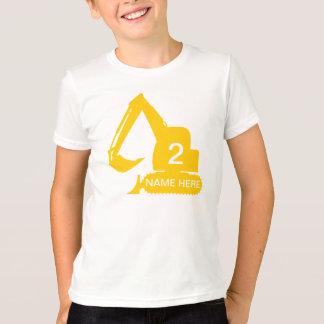 Camiseta T-shirt personalizado da construção com nome &