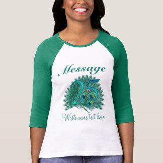 Camiseta T-shirt personalizado do aniversário do texto 25