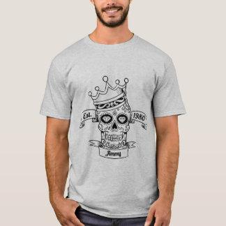 Camiseta T-shirt personalizado do crânio