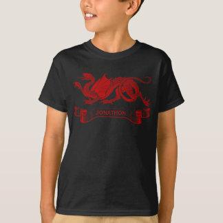 Camiseta T-shirt personalizado do dragão do miúdo