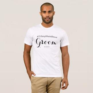 Camiseta T-shirt personalizado do noivo do grupo nupcial
