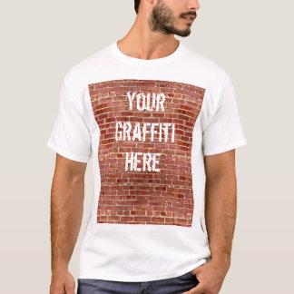 Camiseta T-shirt personalizado dos grafites da parede de
