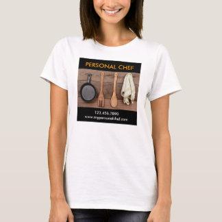 Camiseta T-shirt pessoal elegante do cozinheiro chefe