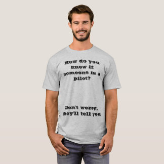 Camiseta T-shirt piloto da piada