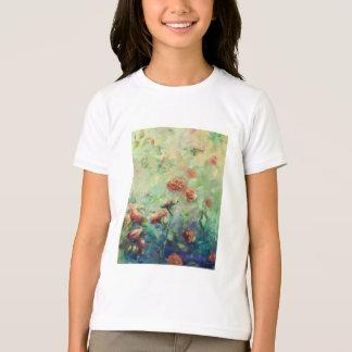 Camiseta T-shirt pintado dos rosas